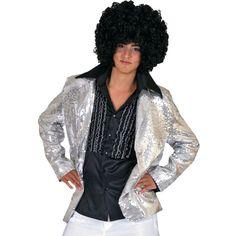 Silver Disco Jacket Halloween Costume for Men