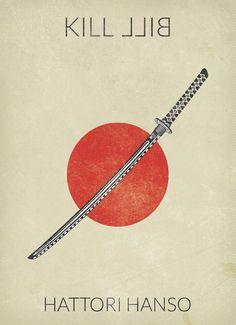 Kill Bill: Vol. 1 (2003) ~ Minimal Movie Poster by Baydle Creative #amusementphile
