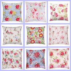 Auction Girl Vintage: Pink Saturday ~ Cath Kidston Pillows