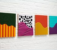 Tactile Wall Tiles. Make them to fit the playroom theme.