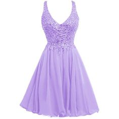 ORIENT BRIDE V-neck Short Party Dress Crystal Cocktail Juniors Prom... ($119) ❤ liked on Polyvore featuring dresses, cocktail prom dress, purple prom dresses, holiday dresses, purple cocktail dress and bridal cocktail dresses