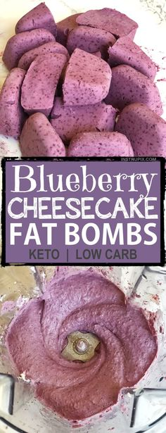 Easy Blueberry Cheesecake Fat Bombs | These keto fat bombs are so quick, easy, and delicious! And, they only require 5 ingredients! The best Keto dessert, ever!! Ketogenic diet, low carb and atkins approved. | Listotic.com