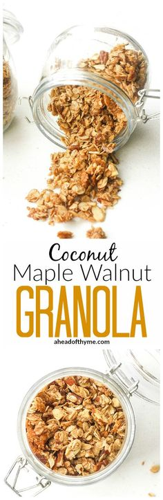 Coconut Maple Walnut Granola: Give yourself a healthy start to your day with…