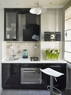 Small Kitchen | Studio Kitchen Basement Kitchen, Apartment Kitchen, Kitchen  Interior, Kitchen Decor