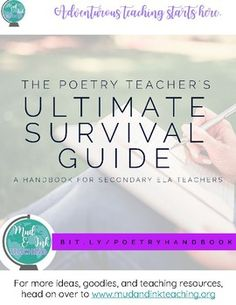 Are you stumped trying to think of teaching ideas for April's National Poetry Month?  Do you love the idea of teaching poetry, but find it too difficult to really pull off?  Then you need to grab this FREE poetry teaching resource to add to your curriculum arsenal!!The Poetry Teacher's Ultimate Survival Guide is a handbook of resources for secondary ELA teachers.