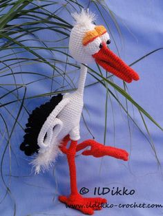 Looking for your next project? You're going to love Stuart the Stork Amigurumi Pattern by designer IlDikko.