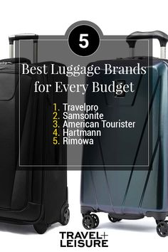 If you are traveling on a budget here are the best luggage brands for you. Whether you like hard luggage or soft luggage these are heavy duty, fashionable, and light luggage options for you! #Luggage #Budget #Travel #LuggageBrands #BudgetTravel #Ideas #Inspiration | Travel + Leisure - The Best Luggage Brands for Every Budget