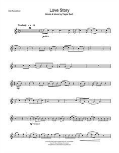 taylor swift alto saxophone sheet music | To view and print this score, you will need to install the free Scorch ...