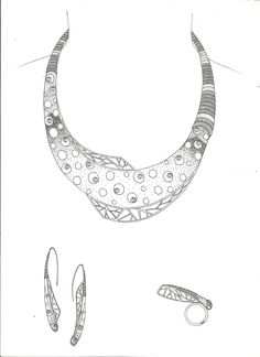 necklace sketch - Поиск в Google