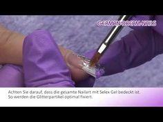 Nail Art Lila Illusion Glitter Video Anleitung von German Dream Nails #Nageldesign #Video #Jolifin