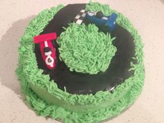 A cake for a 6 year old who likes cars