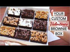 Custom Brownie Box using 1 Base Recipe ! Boxed Brownie Recipes, Fudgy Brownie Recipe, Brownie Bar, Box Brownies, Blondie Brownies, Cream Cheese Brownies, Peanut Butter Brownies, Salted Chocolate, Chocolate Brownies