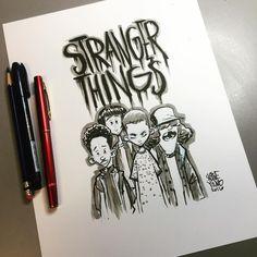 STRANGER THINGS Fan Art By Scottie Young