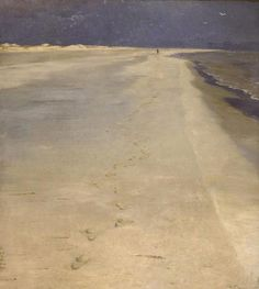 peder severin krøyer | south beach of skagen 1884 ... i really love this divide of the composition