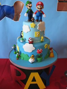cake- but ours is mario and bowser. cute!