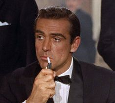 """No"""", James Bond film based on the novel by Ian Fleming and starring Sean Connery and Ursula Andress, premieres in London. Sean Connery James Bond, Old Hollywood, Hollywood Actor, International Spy Museum, Don Corleone, Gena Rowlands, James Bond Movies, James Bond Quotes, Faye Dunaway"""