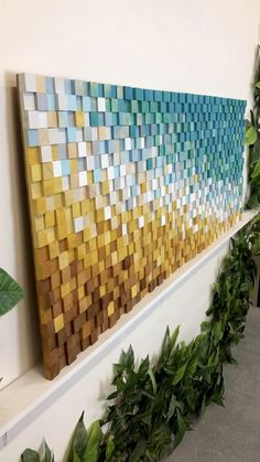 Mosaic Wall Art, 3d Wall Art, Colorful Wall Art, Beach Wall Art, Wooden Wall Art, Large Wall Art, Wall Art Decor, Wood Mosaic, Wall Wood