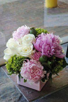 Flowers Roses Bouquet Birthday Floral Arrangements 52 Ideas For 2019 Beautiful Flower Arrangements, Fresh Flowers, Silk Flowers, Spring Flowers, Beautiful Flowers, Arrangements Ikebana, Floral Arrangements, Birthday Flower Arrangements, Peony Arrangement