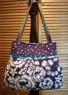 The Bonnie Bag - HUGE Quilted, Pleated Purse - Carry-all with Pockets, Key Fob. Shoulder purse by Sew Much Cuteness