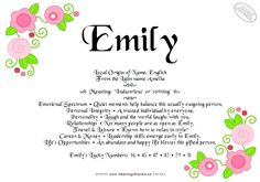 What Dose Emily Mean