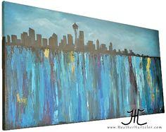 seattle skyline painting   Hurzeler Art & Photography   the Blog.: Skyline {Seattle} Painting