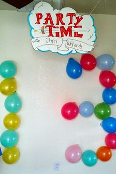 Adventure time party #adventure time theme #balloondecoration