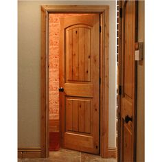 Krosswood Knotty Alder 2 Panel Top Rail Arch with V-Groove Arched Interior Doors, Discount Interior Doors, Exterior Doors, Entry Doors, Knotty Alder Doors, Half Doors, House Doors, Wooden Doors, Home Renovation
