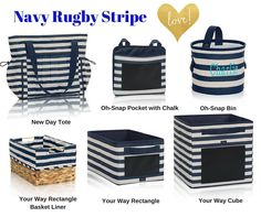 Thirty-One Navy Rugby Stripe products spring/summer 2016