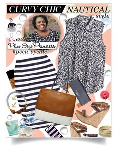 """""""Nautical Preppy with The Plus Size Princess!"""" by blairelythere ❤ liked on Polyvore featuring NARS Cosmetics, Diane Von Furstenberg, H&M, Dsquared2, Fiorelli, Fox Run, Jewel Exclusive, CellPowerCases, Steve Madden and Marni"""