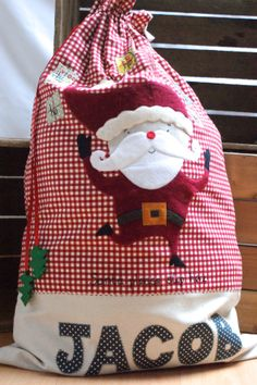 Santa Sack Personalised via Emily Carlill