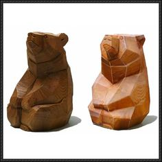 Wood Carving Bear Free Papercraft Download…