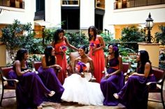 Renaissance Hotel Tulsa Wedding Purple and Coral