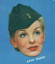 An Army Nurse uniform hat, 1943. #vintage #WW2 #1940s #uniforms #women