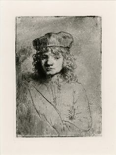 Rembrandt, Portrait of Titus, c. 1656 etching, 9.9 x 7 cm, Amsterdam, Rijksprentenkabinet