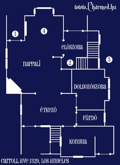Casa Halliwell Plano Planta Baja 2 Charmed Quinta