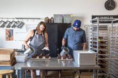 Check out our sheet pan racks in action! The Sunny Sweet-Scented Studio of P.F. Candle Co — Workspace Tour
