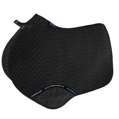 """Black Couture """"GP"""" All Purpose Saddle Pad - Designer Styling - High Wither Cut by KM Elite  Bon-Vivant Equestrian"""