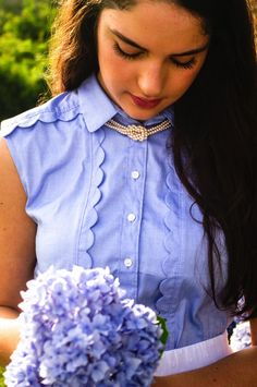 Hydrangea Heaven    Classic, Preppy Style    Brunettes and Pearls