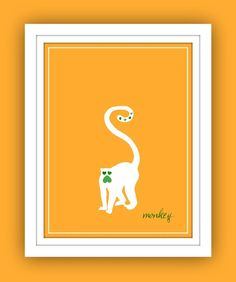 colour print 4: monkey