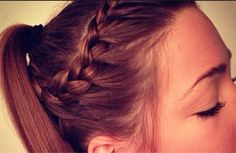 Love this quick and easy hair style for school
