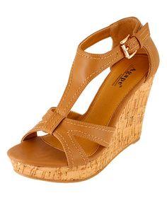 Loving this Tan Paris Wedge Sandal on #zulily! #zulilyfinds