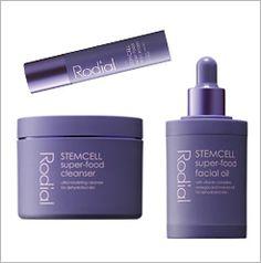 Rodial Stemcell Super-Food Cleanser (6.8oz), $38; Facial Oil (1oz), $80; Day Cream (1.7oz), $52.