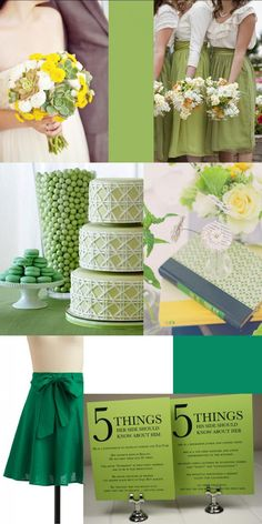Seeing so much green inspiration lately. I love it. Here's my take.