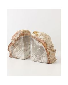 These petrified wood book ends will look great with your book collection! Buy them here: http://www.bhg.com/shop/anthropologie-petrified-wood-bookends-p4ffc4b5a82a75e5584754508.html?socsrc=bhgpin103112shopwoodbookends
