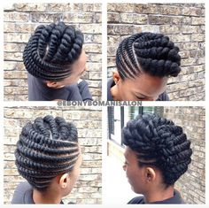 Flat Twist Braids Styles to Rock This Next Event Hello beautiful ladies. The hairstyles invoke are the flat twist braids. Natural Hair Twists, Natural Hair Updo, Pelo Natural, Natural Hair Styles, Natural Protective Styles, Two Strand Twist Updo, Flat Twist Updo, Twist Braids, 2 Strand Twist Styles
