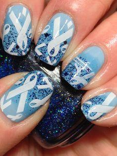 Canadian Nail Fanatic: Blue Awareness Ribbons
