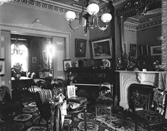 """""""Drawing room, Mrs. Alex McDougall's house, Montreal, QC, 1895"""""""