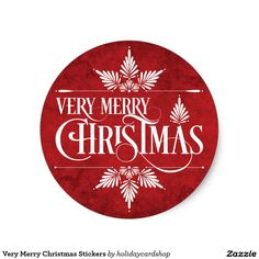 Shop Very Merry Christmas Stickers created by holidaycardshop. Merry Christmas Wallpaper, Merry Christmas Images, Christmas Signs Wood, Christmas Topper, Christmas Tag, Christmas Crafts, After Christmas Sales, Christmas Scrapbook Pages, Xmax