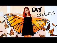 DIY Halloween costume! Monarch butterfly | Under 3$ with garbage bags!? - YouTube