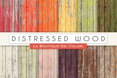 Distressed Wood Digital Papers. Textures. $3.00